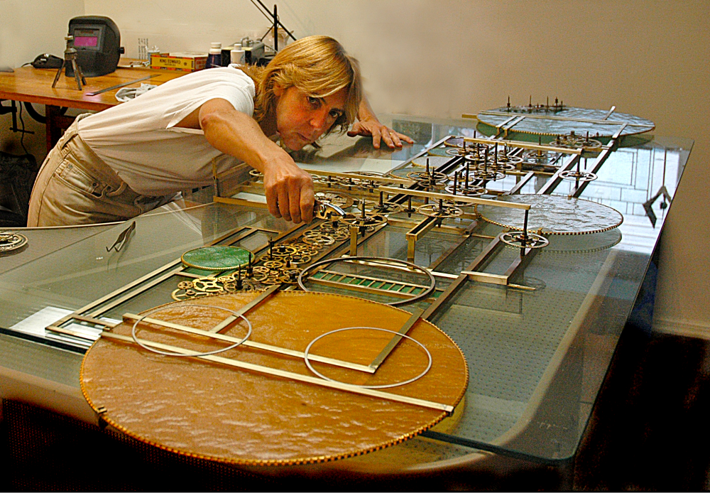 Kinetic Sculpture in the makiing