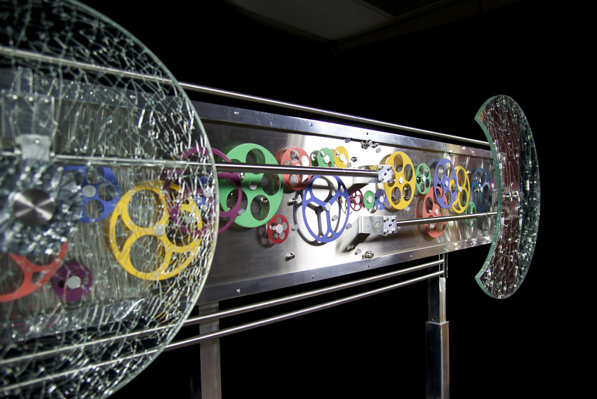 Sculpture Artist Andrea Davide created this kinetic gear art